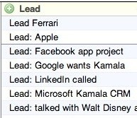 The 'Lead' topic type on the dashboard